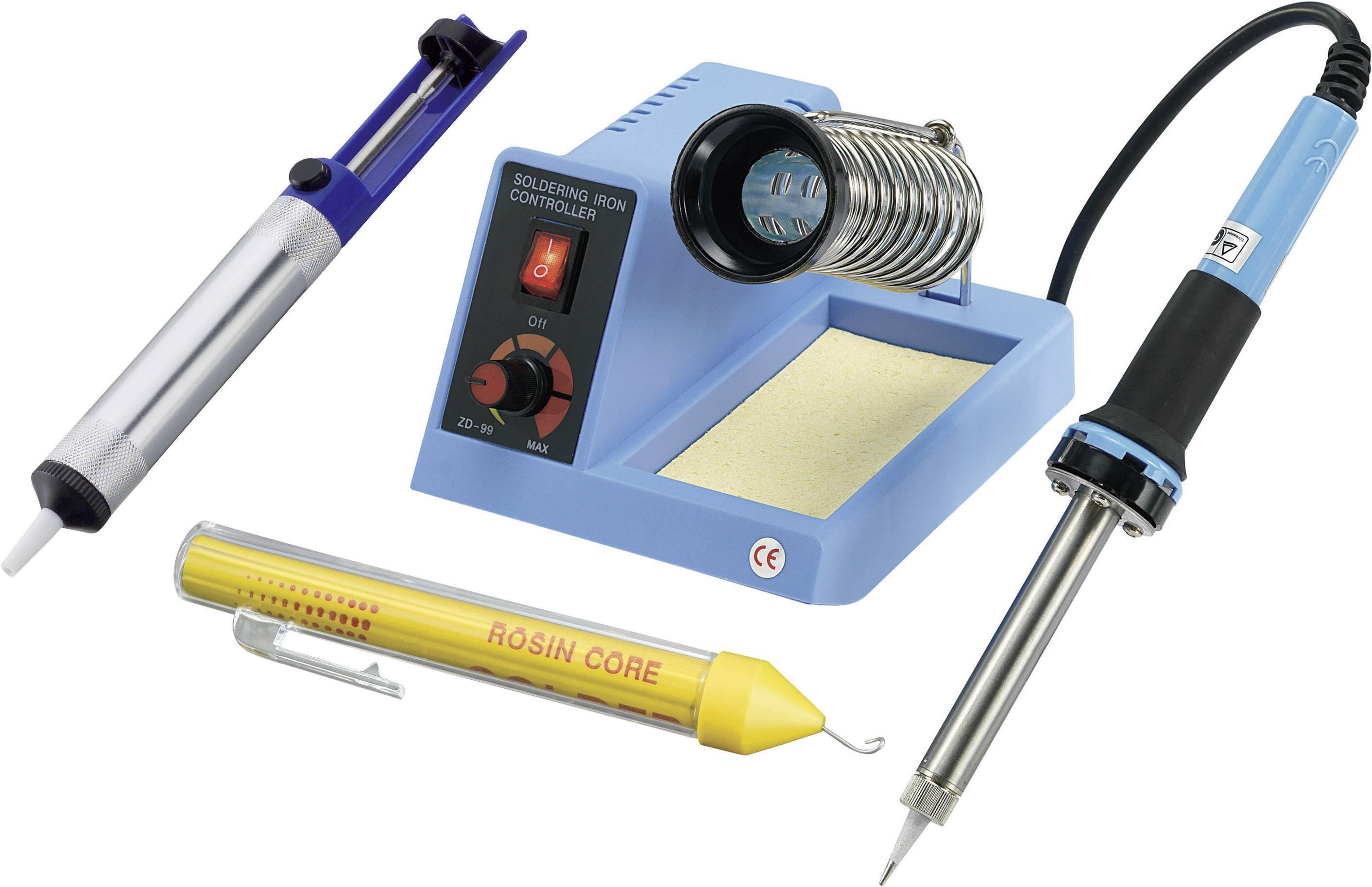Sada pájecí stanice Basetech ZD-99 588417, analogový, 48 W, +150 až +450 °C, + odsávací pumpa, + pájka