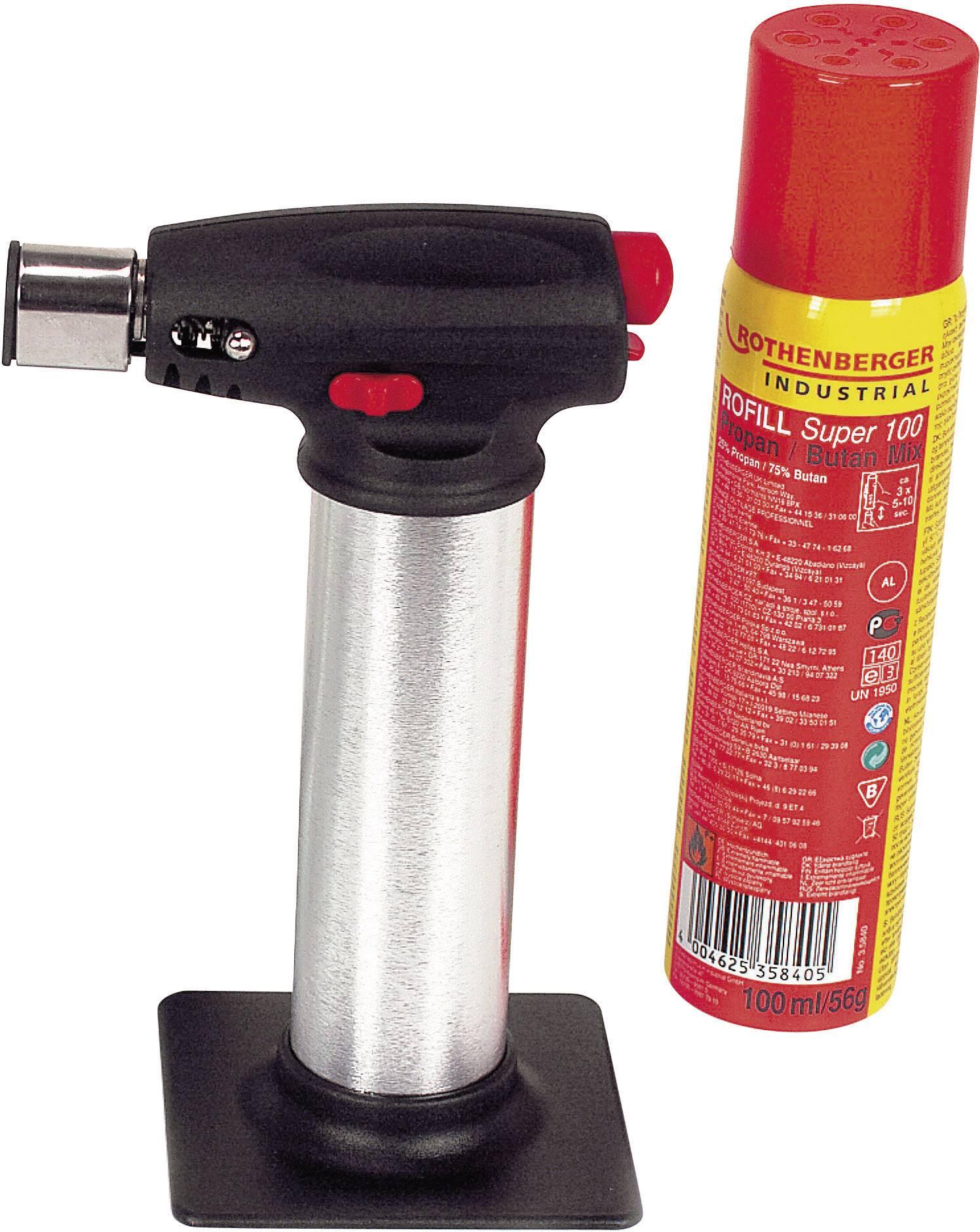 Hořák Crème Brûlée Rothenberger Industrial 03.5126E Teplota (max.) 1300 °C Objem plynu 100 ml