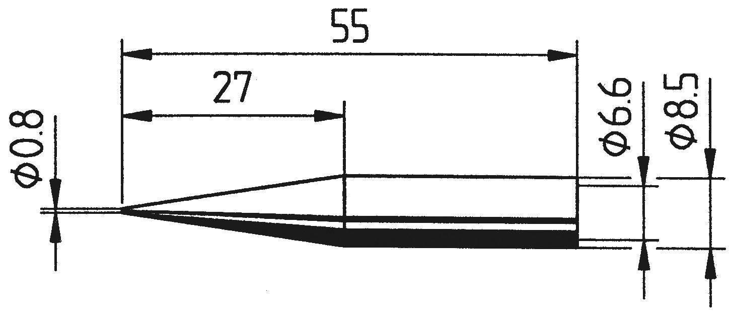 Spájkovací hrot ceruzková forma, predĺžená Ersa 842 SD LF, velikost hrotu 0.8 mm, 1 ks