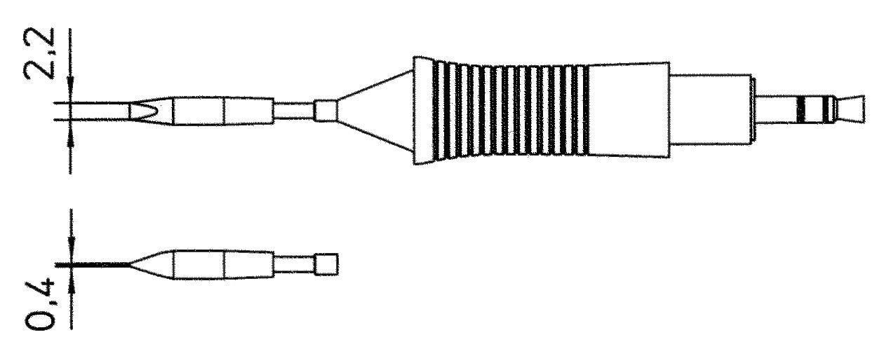 Spájkovací hrot dlátová forma, rovná Weller Professional RT8, velikost hrotu 2.2 mm, 1 ks