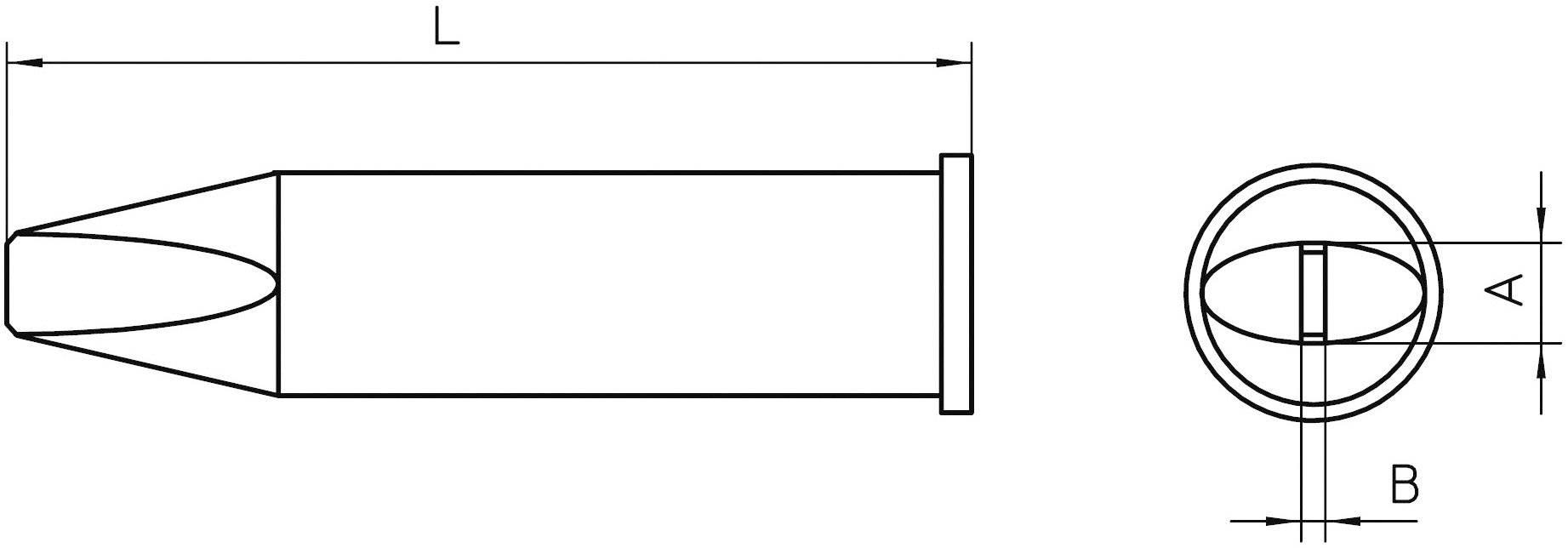 Pájecí hrot Weller XHT D5, 5x1,2 mm, dlátový