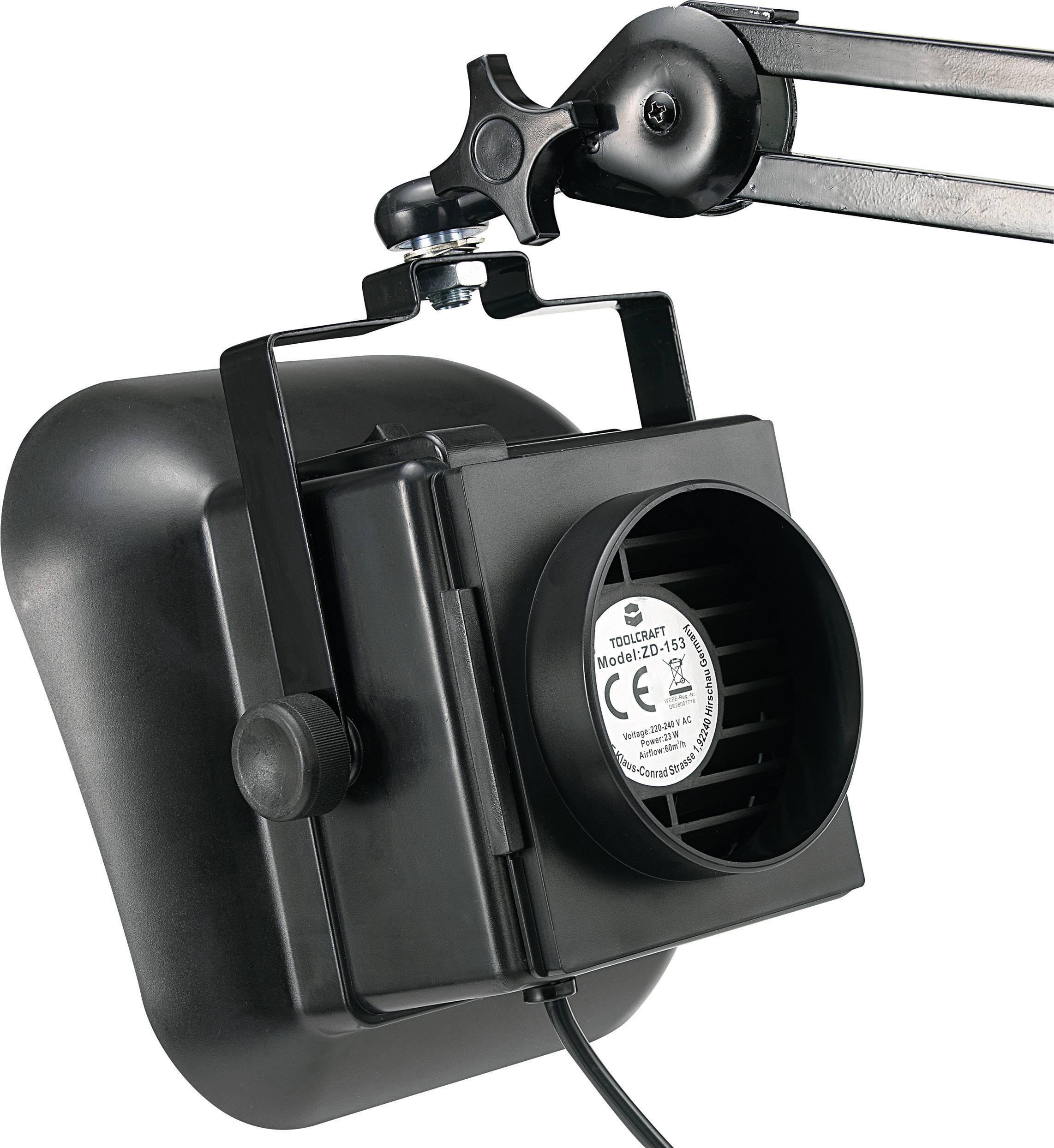 Odsávač pájecích výparů Toolcraft ZD-153A, 230 V/AC