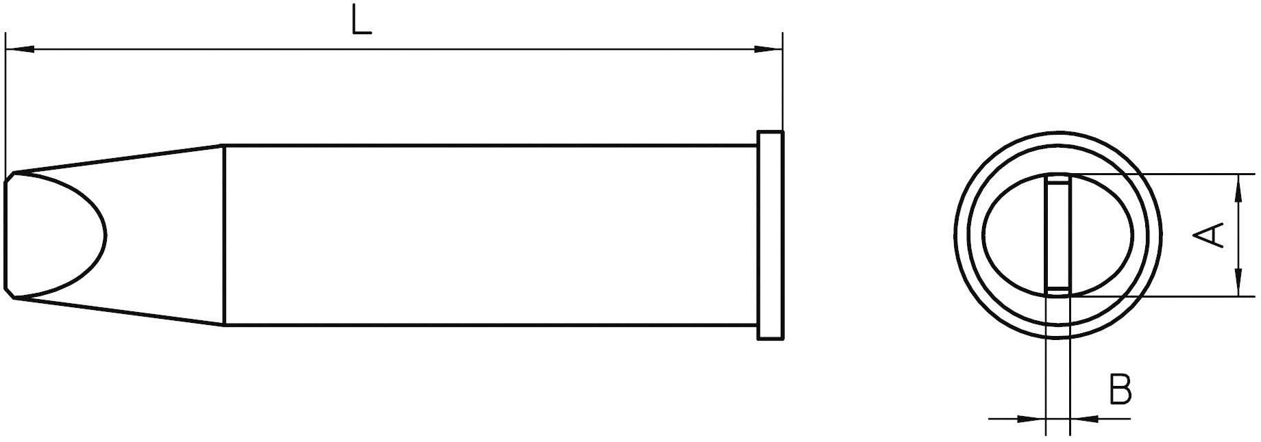 Pájecí hrot Weller XHT E7, 6x1,5 mm, dlátový