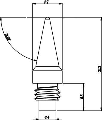 Náhradní pájecí hrot Toolcraft T01, Ø 7 mm