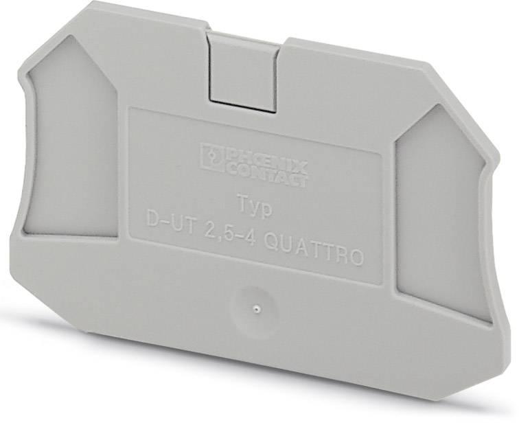End cover D-UT 2,5/4-QUATTRO Phoenix Contact 50 ks