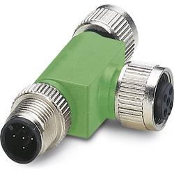 Rozdeľovač a adaptér pre senzory - aktory Phoenix Contact SAC-3P-M12T/2XM12 B PE 1519723, 1 ks