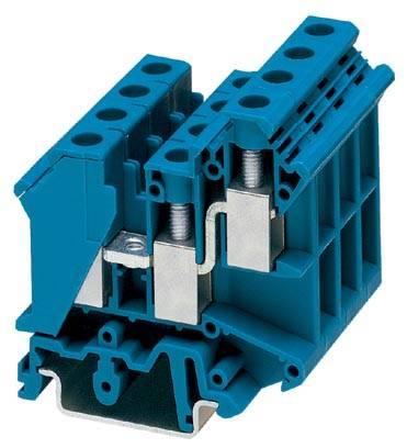 Řadová svorka průchodky Phoenix Contact UK 10-TWIN BU 3005235, 50 ks, modrá