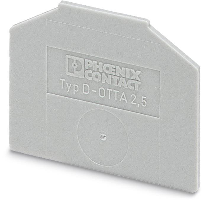 End cover D-OTTA 6 Phoenix Contact D-OTTA 6 0790417, 50 ks