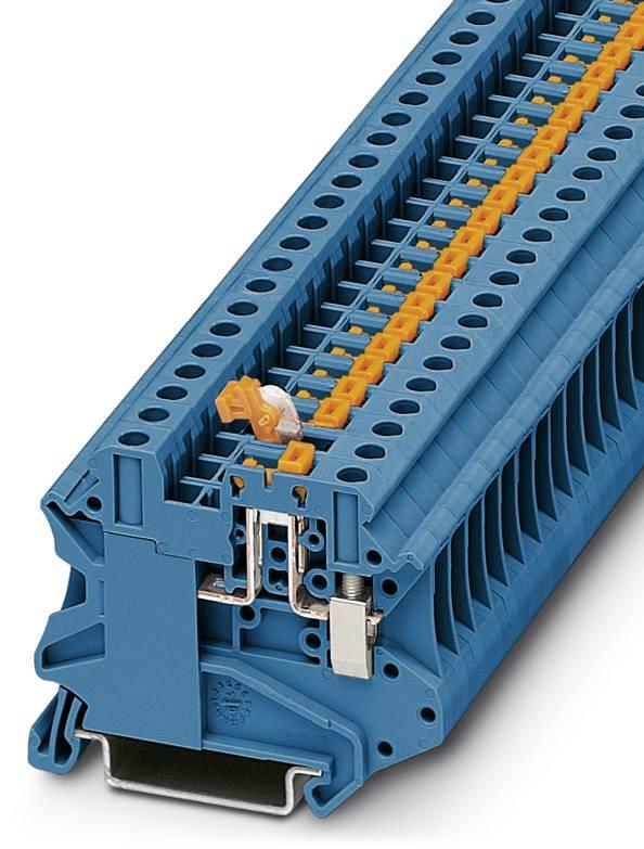 Řadová svorka průchodky Phoenix Contact UT 4-MT-P/P BU 3046265, 50 ks, modrá