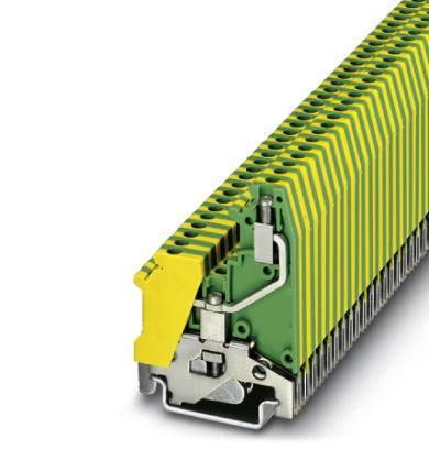 Trojitá svorka ochranného vodiče Phoenix Contact UK 3-RETURN-PE 3002555, 50 ks, zelenožlutá
