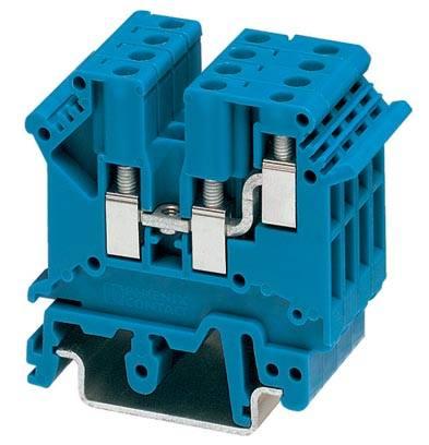 Řadová svorka průchodky Phoenix Contact UK 3-TWIN BU 3002416, 50 ks, modrá