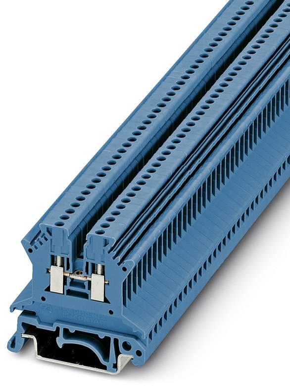 Řadová svorka průchodky Phoenix Contact UK 1,5 N BU 3005840, 50 ks, modrá