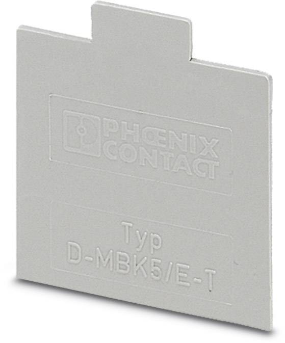 End cover D-MBK 5/E-T Phoenix Contact D-MBK 5/E-T 1413706, 50 ks