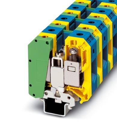 Instalační svorka ochranného vodiče Phoenix Contact UKH 50-PE/N 3009163, 5 ks, zelenožlutá
