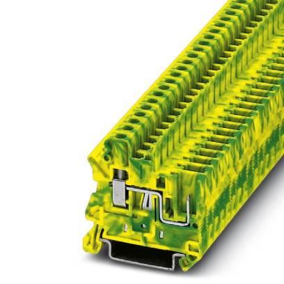Trojitá svorka ochranného vodiče Phoenix Contact UT 4/ 1P-PE 3045606, 50 ks, zelenožlutá