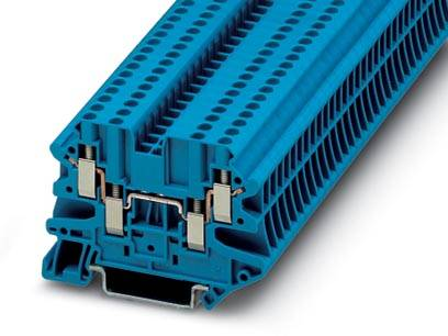 Řadová svorka průchodky Phoenix Contact UT 2,5-QUATTRO BU 3044555, 50 ks, modrá