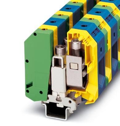 Instalační svorka ochranného vodiče Phoenix Contact UKH 95-PE/N 3009176, 5 ks, zelenožlutá