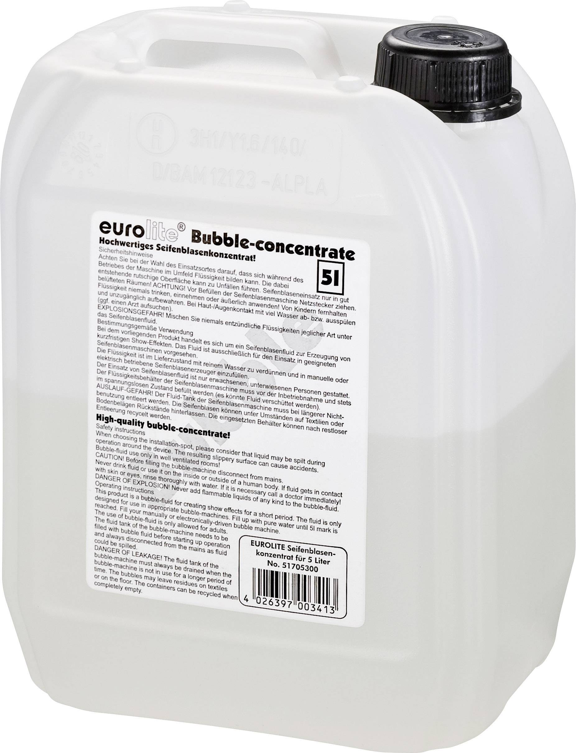 Koncentrát pro výrobu bublin Eurolite, 1,66 l