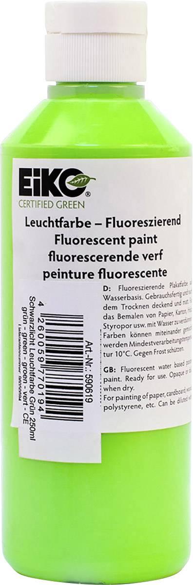 Zelená UV žiariaca farba Eiko 590619, 250 ml