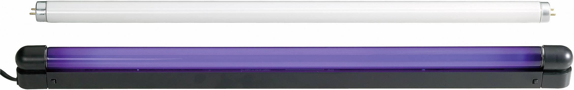 UV svietidlo so žiarivkou, sada 120cm 36W Slim UV & weiß 51101464, 120 cm, 36 W, čierna
