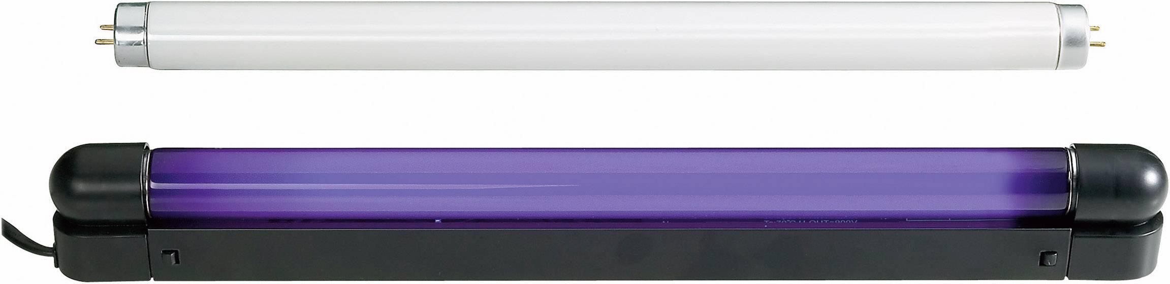 UV svietidlo so žiarivkou, sada 60cm Slim UV & weiß 51101462, 60 cm, 18 W, čierna