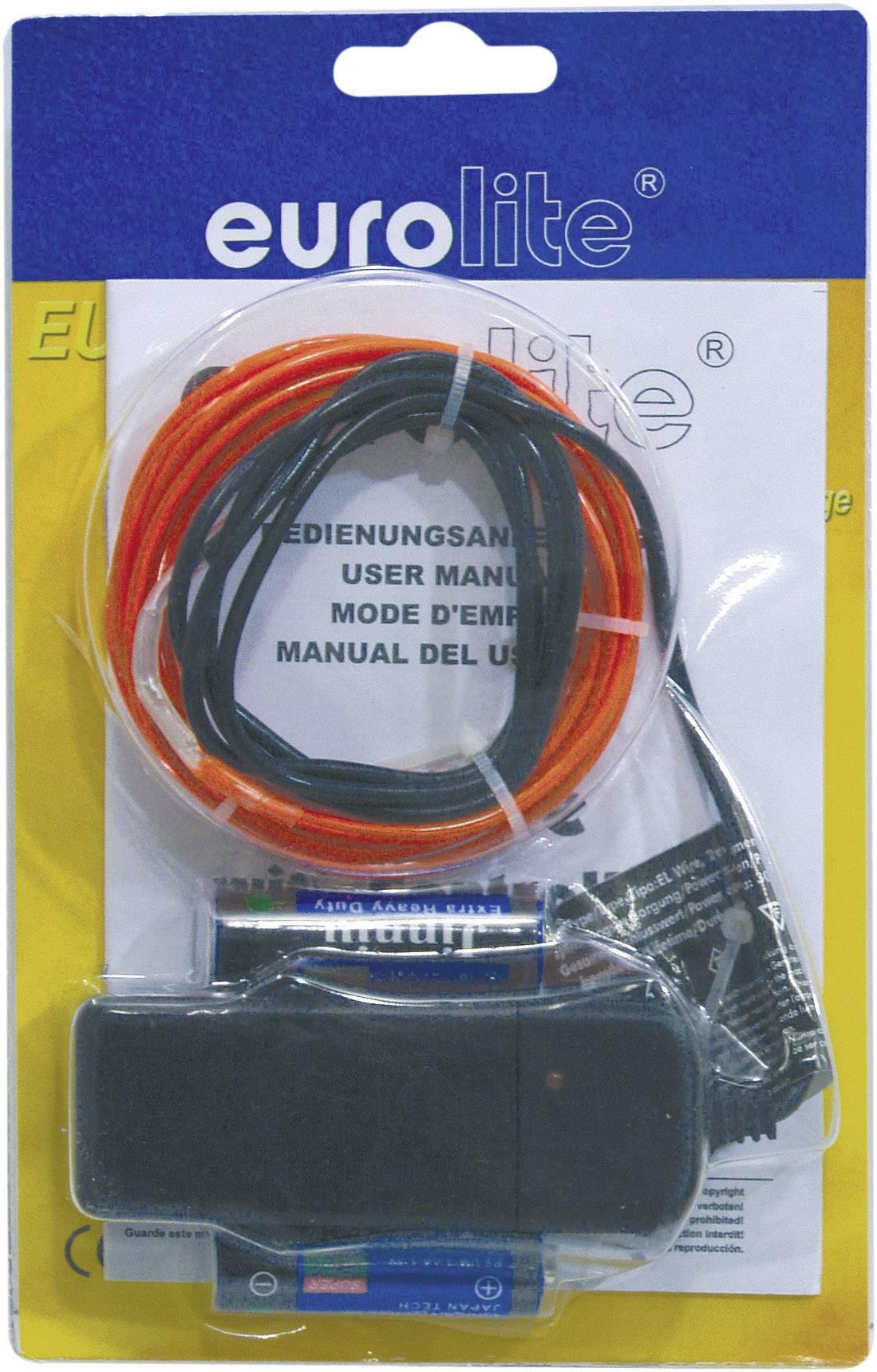 Elektroluminiscenčný kábel, Ø 2 mm, 2 m, červený