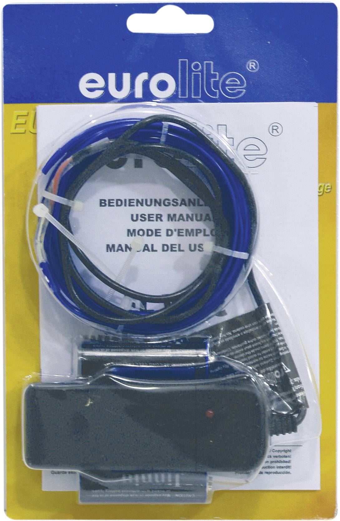 Elektroluminiscenčný kábel, Ø 2 mm, 2 m, modrý