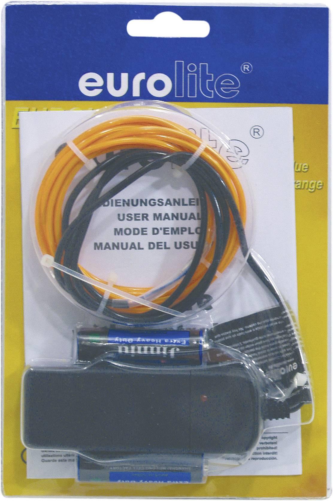 Elektroluminiscenčný kábel, Ø 2 mm, 2 m, oranžový