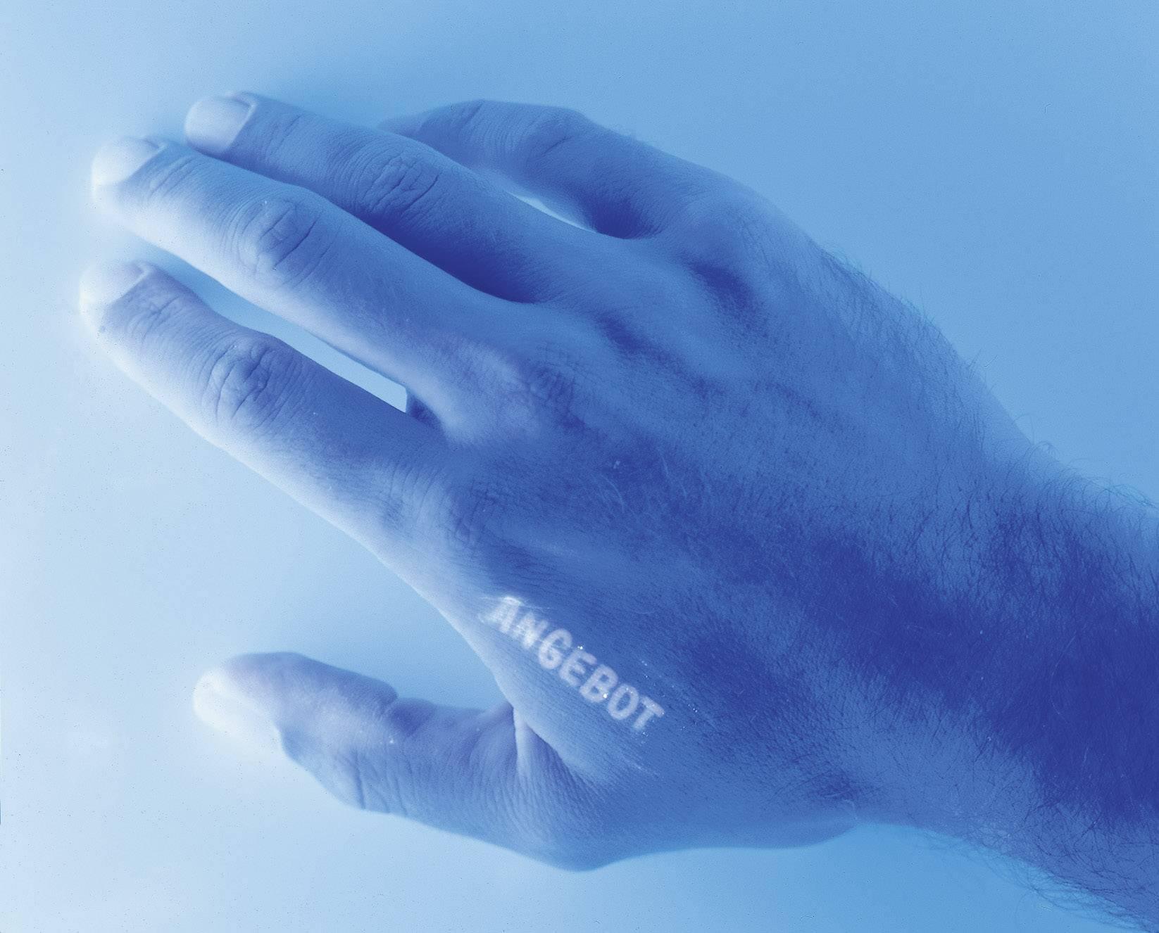 UV farba pre pečiatky, modrá