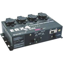 DMX prepínače, sada Eurolite ERX-4 DMX 4-kanálová