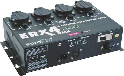 DMX prepínače, sada Eurolite ERX-4 DMX 4-kanálový