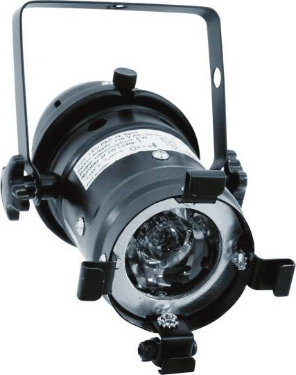 LED reflektor Eurolite PAR 16 Spot, svetlo biele, 3200K, 1x 3 W, čierny