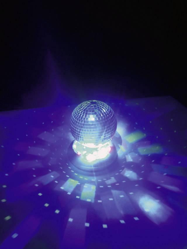 LED zrkadlová guľa so svetelným stojanom