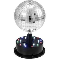 LED zrcadlová koule se světelným stojanem, 13 cm