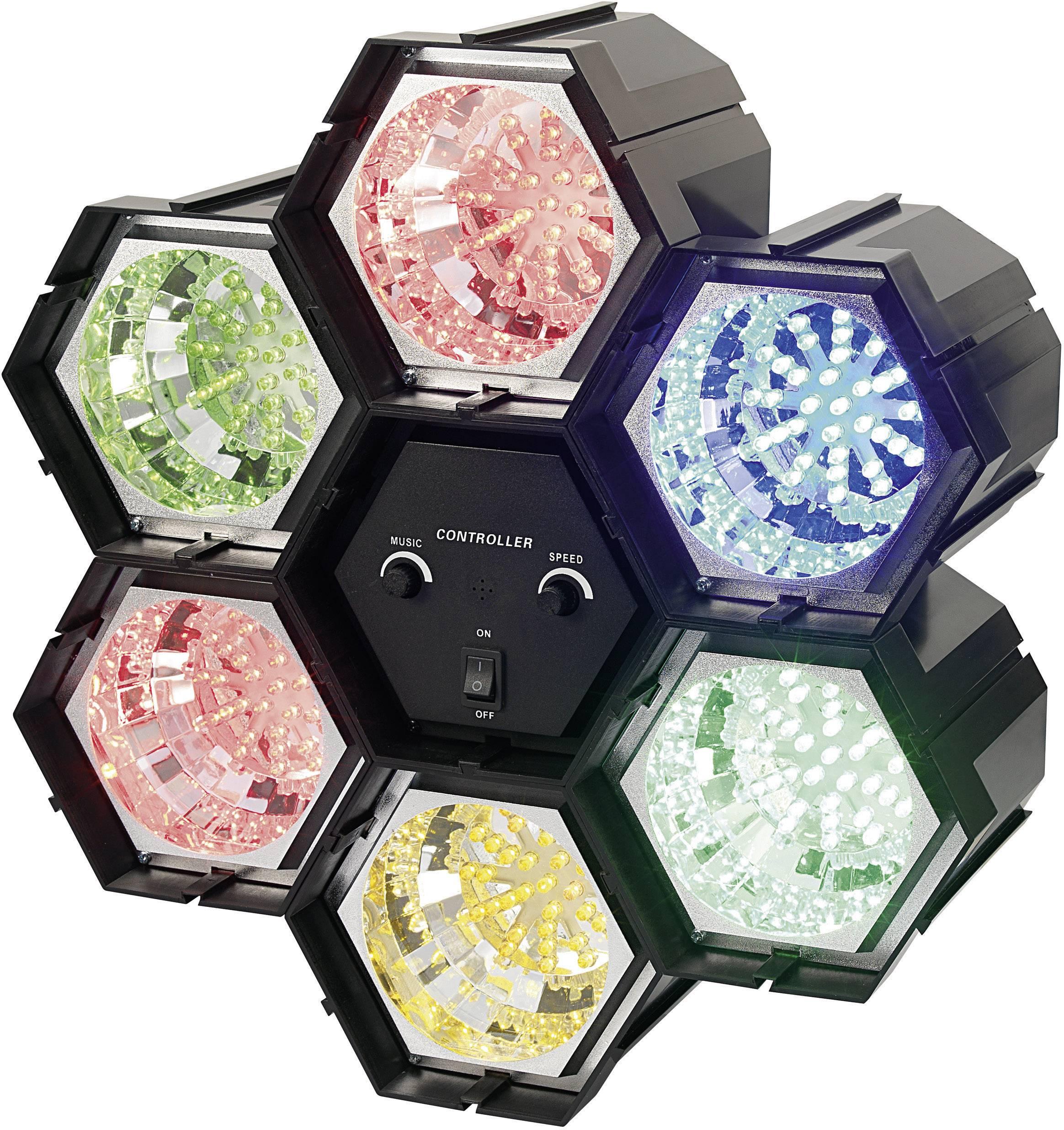 LED efekt, 6kanálový, 2x červená/modrá/žlutá/zelená/světle zelená