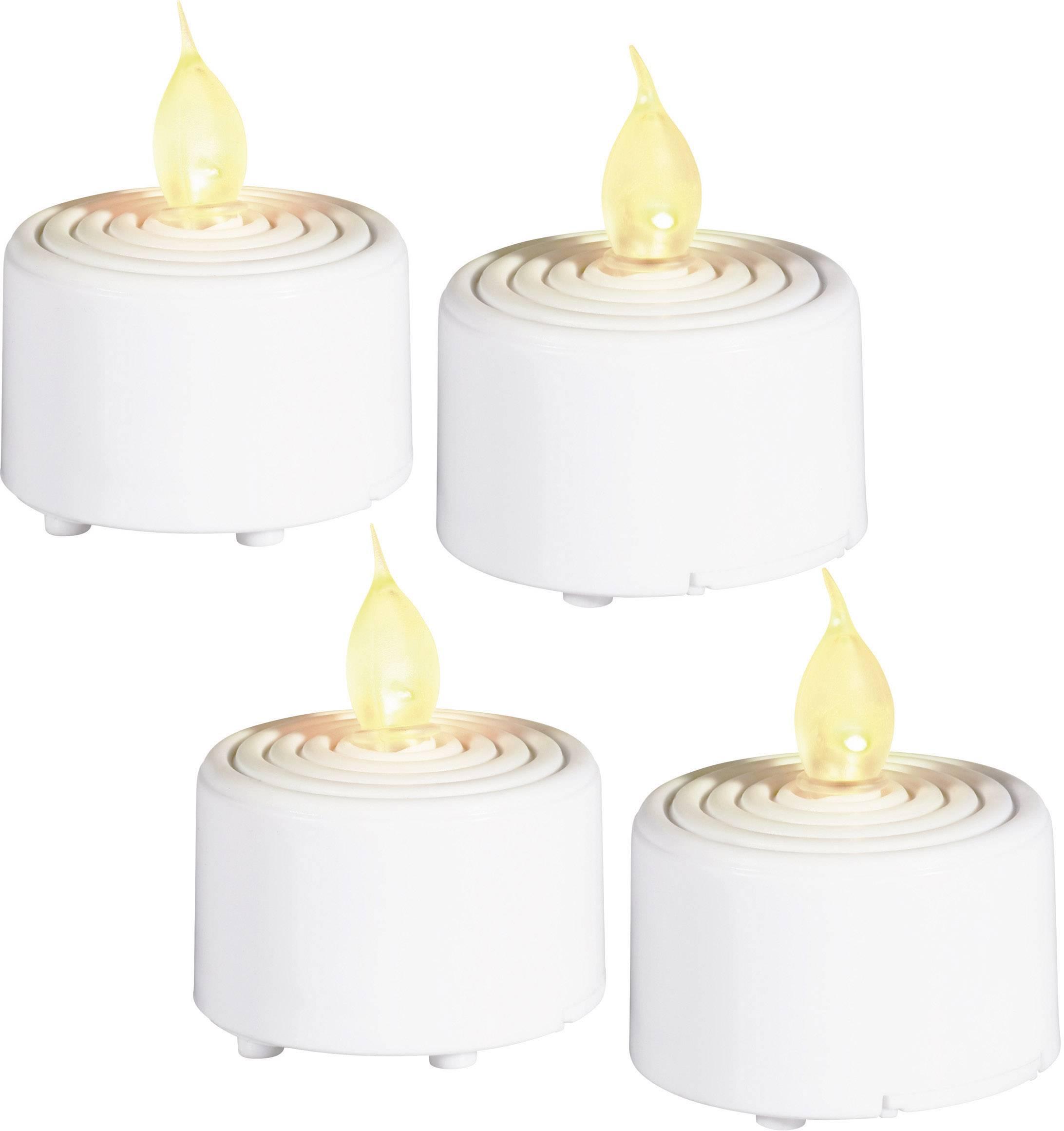 LED čajové sviečky Grundig 06178, sada 4 ks, biela