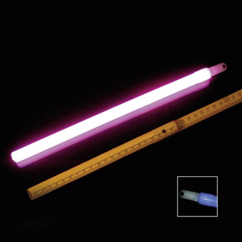 Neonová světelná tyčinka, 30 cm, růžová