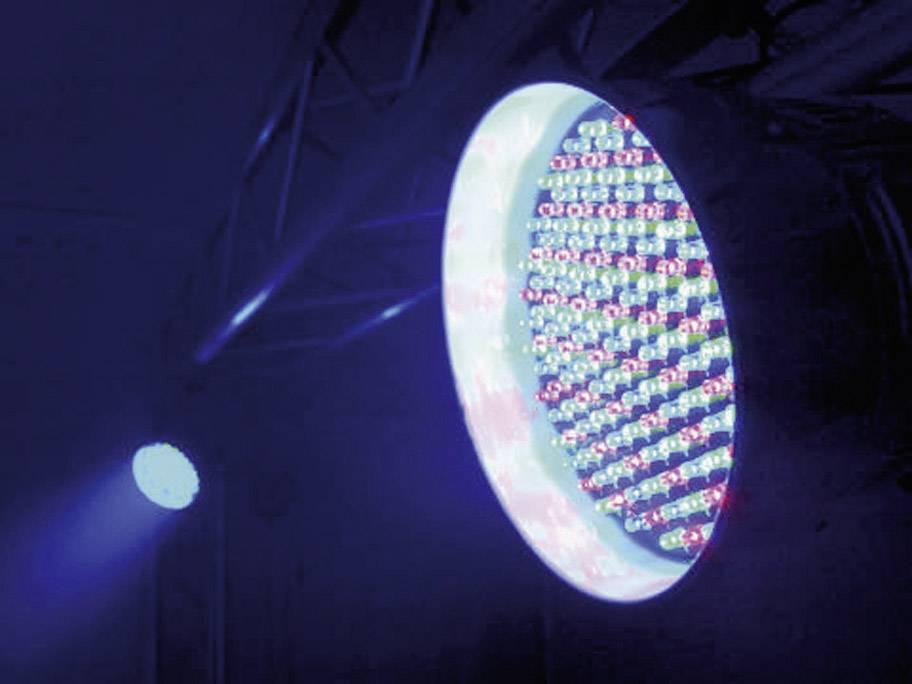 LED DMX reflektor Eurolite PAR 56 Spot Multi-Color, 151 LED, strieborný