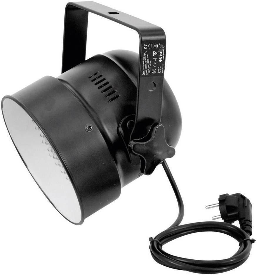 LED DMX reflektor Eurolite PAR56 Spot Multi-Color, 151 LED, čierny