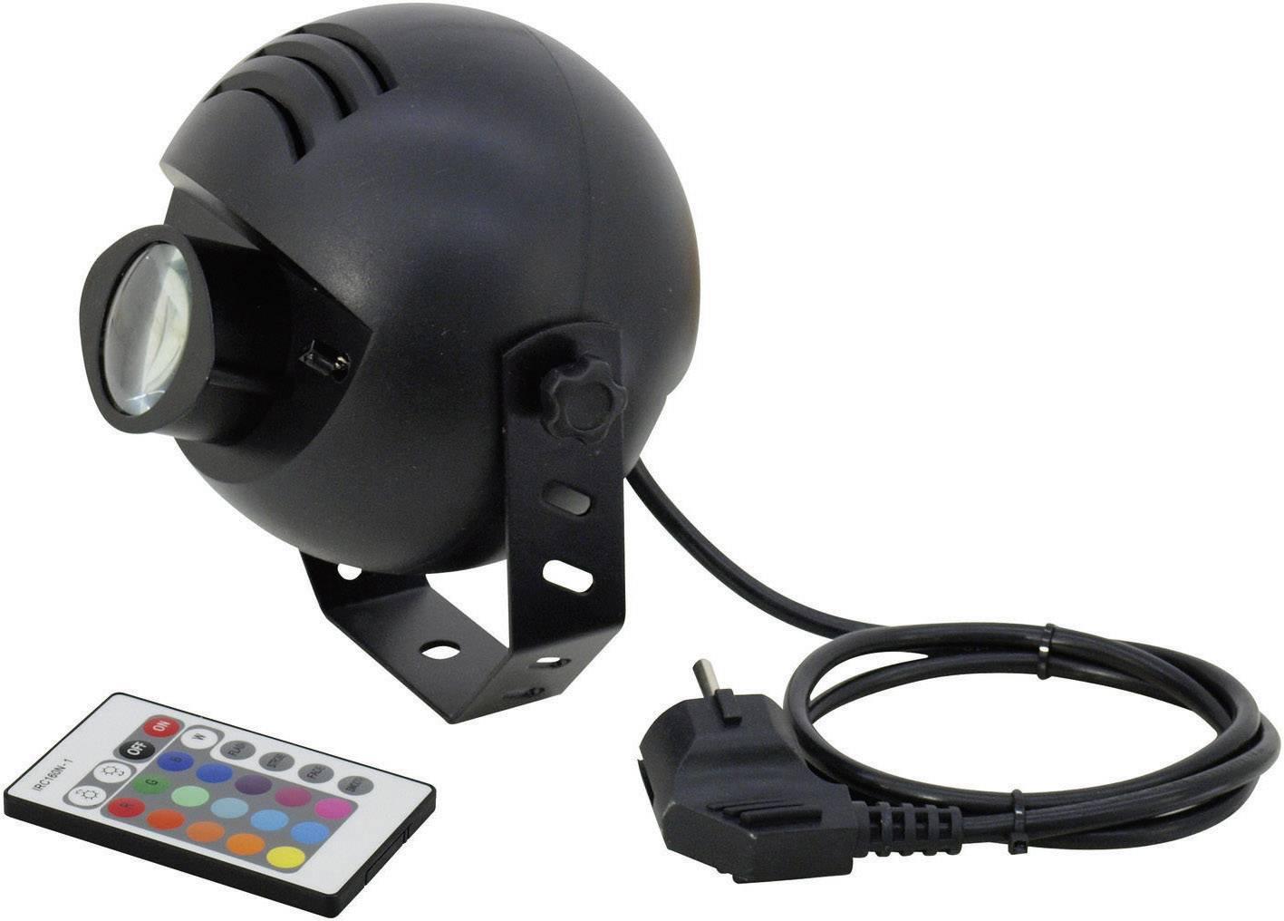 LED reflektor s ovládačom Eurolite PST-9W TCL Multi-Color, 1x 9 W, čierny