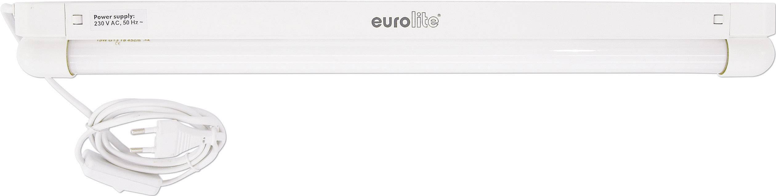 Žiarivka so zásuvkou Eurolite Neonröhren-Komplettset, 450 mm, 18 W, biela, 1 ks