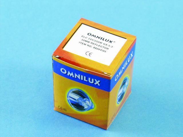Žárovka Omnilux ELC, 50 mm, GX-5.3, 24V/250W