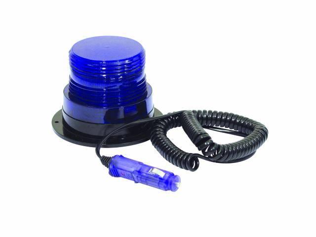 Policajný LED stroboskop, modrý, 12 V