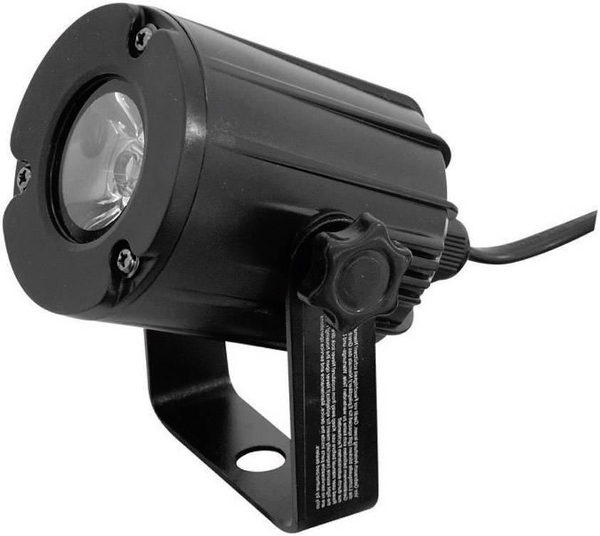LED reflektor Eurolite PST-3W Spot, svetlo 3200K, 3 W, čierny