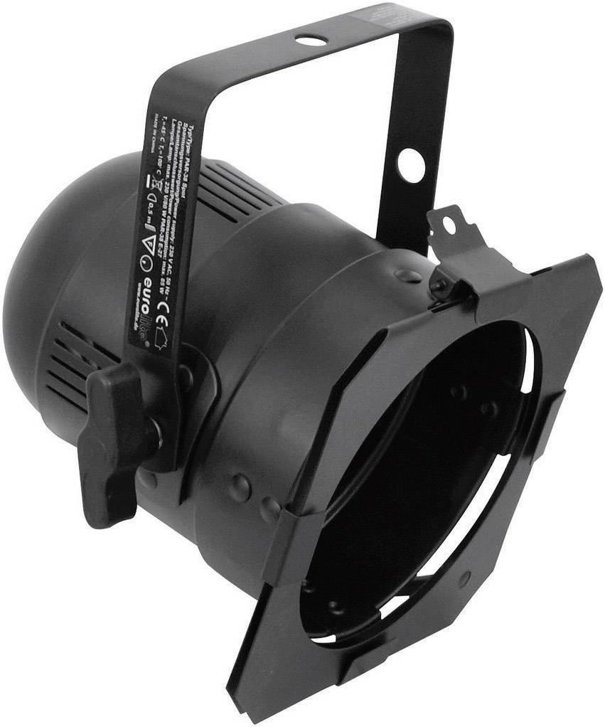 Reflektor Eurolite PAR 38, E27, typ spot, čierny