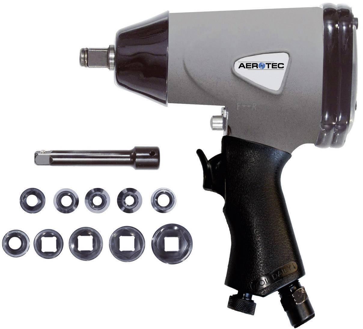 """Pneumatický rázový šroubovák vč. příslušenství Aerotec vnější čtyřhran 1/2"""" (12,5 mm), max. moment 345 Nm"""