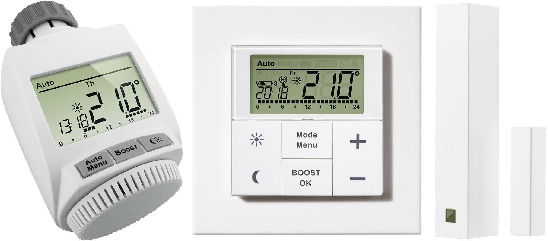 Sada bezdrátového termostatu eQ-3 MAX! + okenní a dveřní kontakt + termostatická hlavice eQ-3 MAX!+