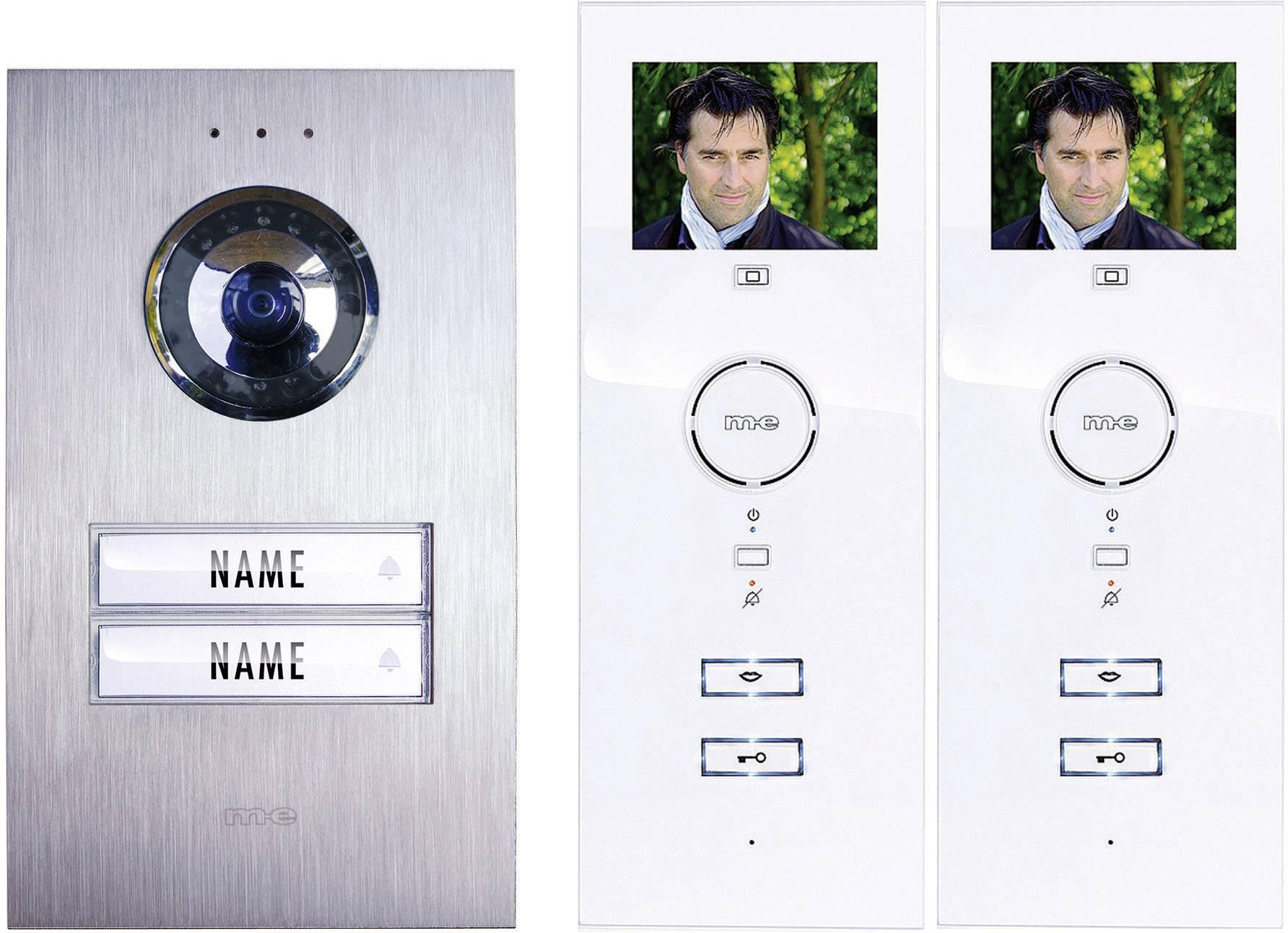 Káblový dverový telefón m-e modern-electronics strieborná, biela
