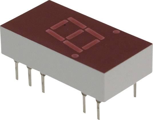 7segmentový displej Broadcom 5082-7611, číslic 1, 7.62 mm, 2.1 V, červená