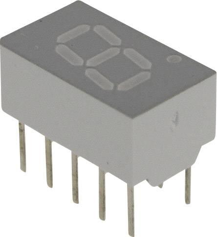 7segmentový displej Broadcom HDSP-7403, číslic 1, 7.62 mm, 2.2 V, žlutá